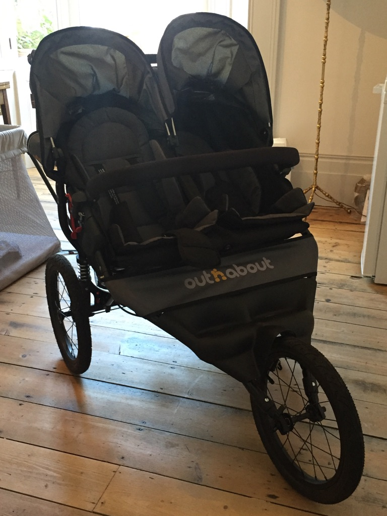 Out 'n' about sport double stroller (steel grey)