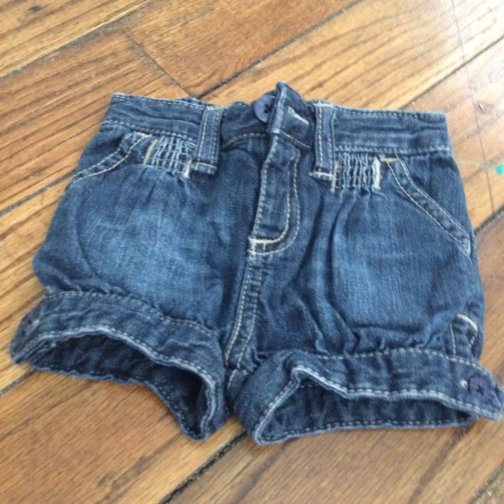 Baby blue Jean shorts size 0-3months $5
