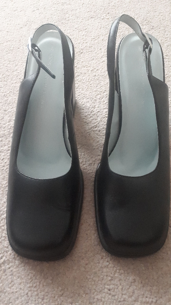 New Black Slingback Shoes - Size 6