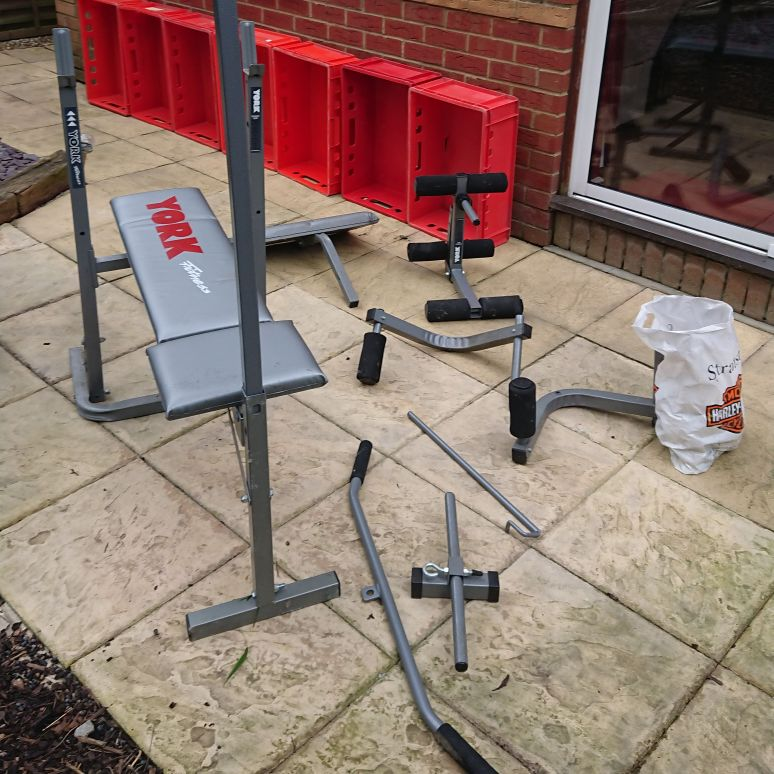 York fitness Work out bench