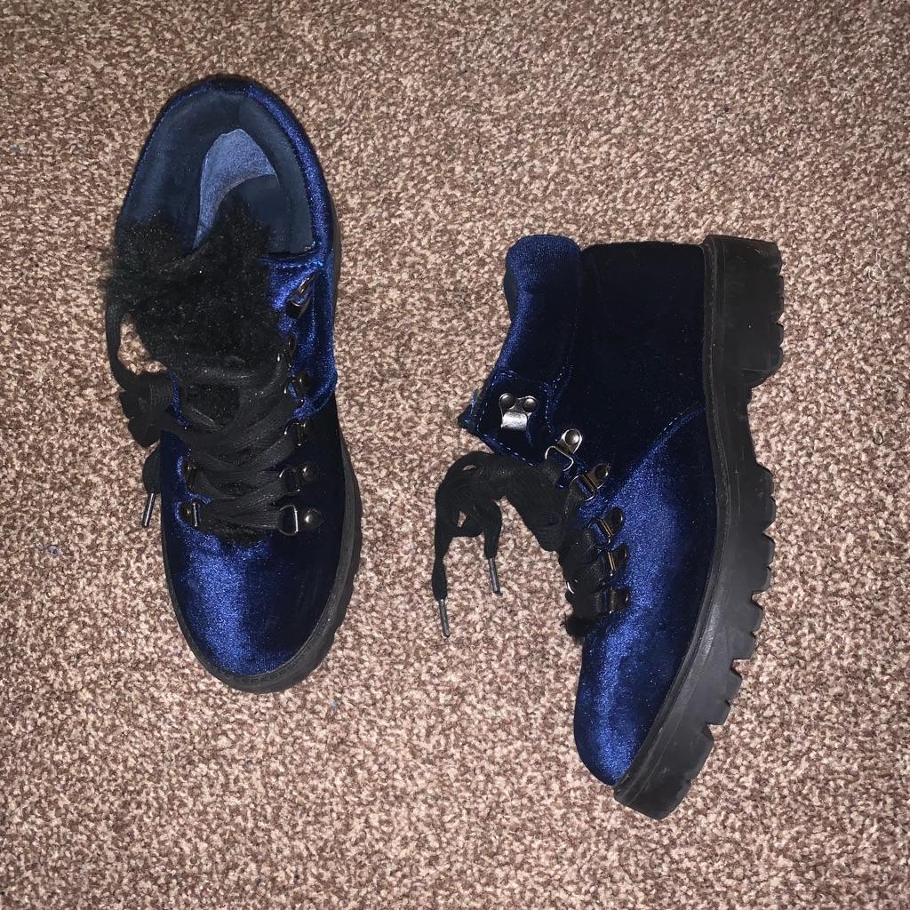 Velvet Blue Boots