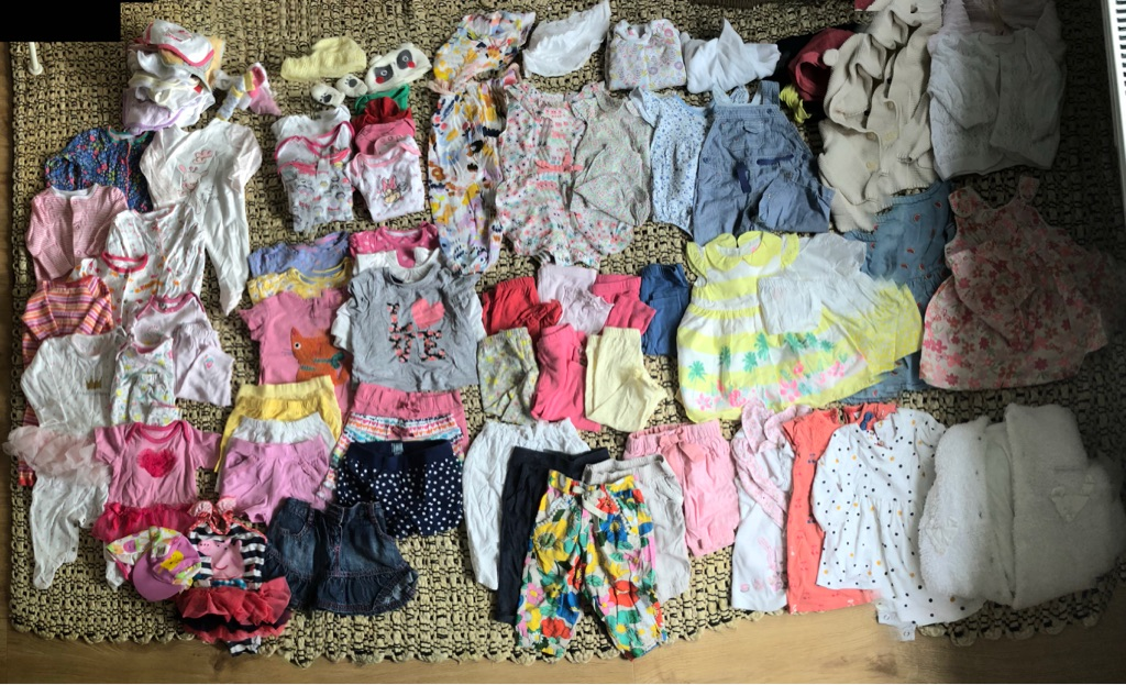 3-6 months girls huge bundle, 90+ items, reliable brands