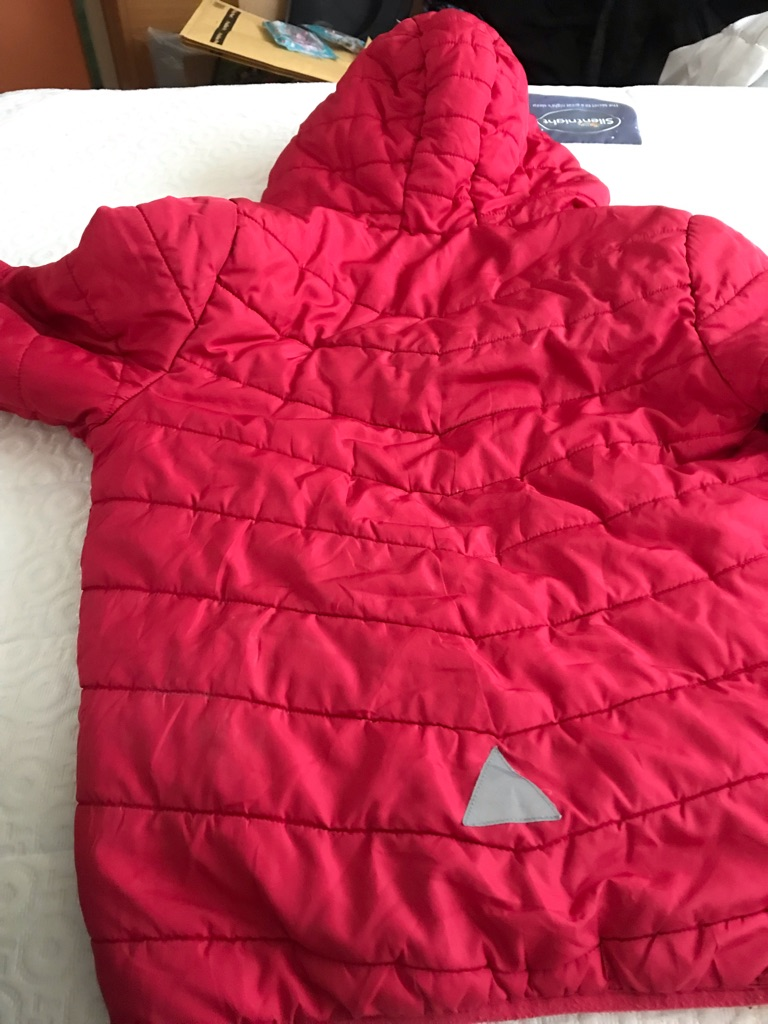 Red boy's winter coat - age 9-10 years