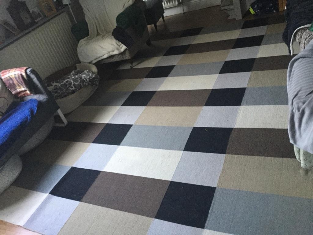 Beautiful large ikea rug 250x350cm