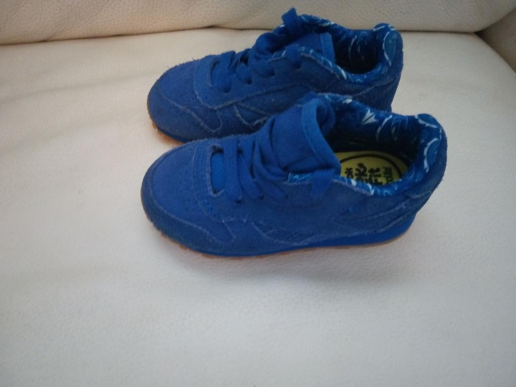 Reebok classics cobolt blue infant size
