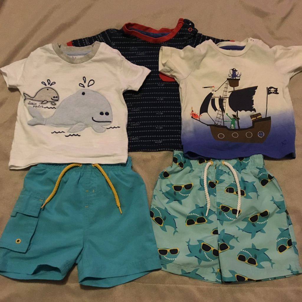 Tshirts and shorts 9-12 months