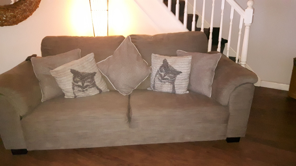 3 seater ikea sofa and 2 arm chairs