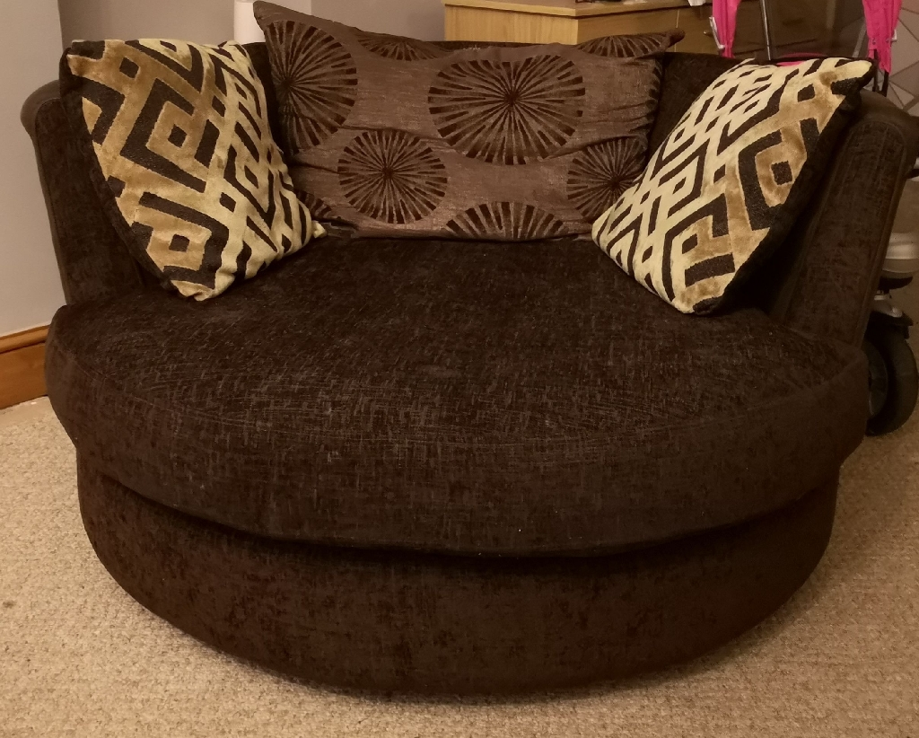 DFS 4 seater sofa and swivel chair