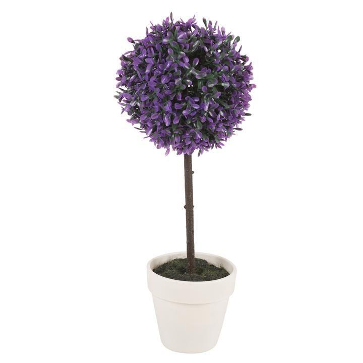 Medium, Lavender) 2X Artificial Outdoor Ball Plant Tree