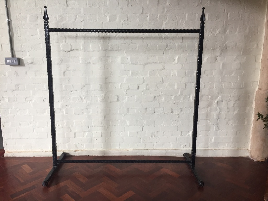 Vintage steel clothes rack