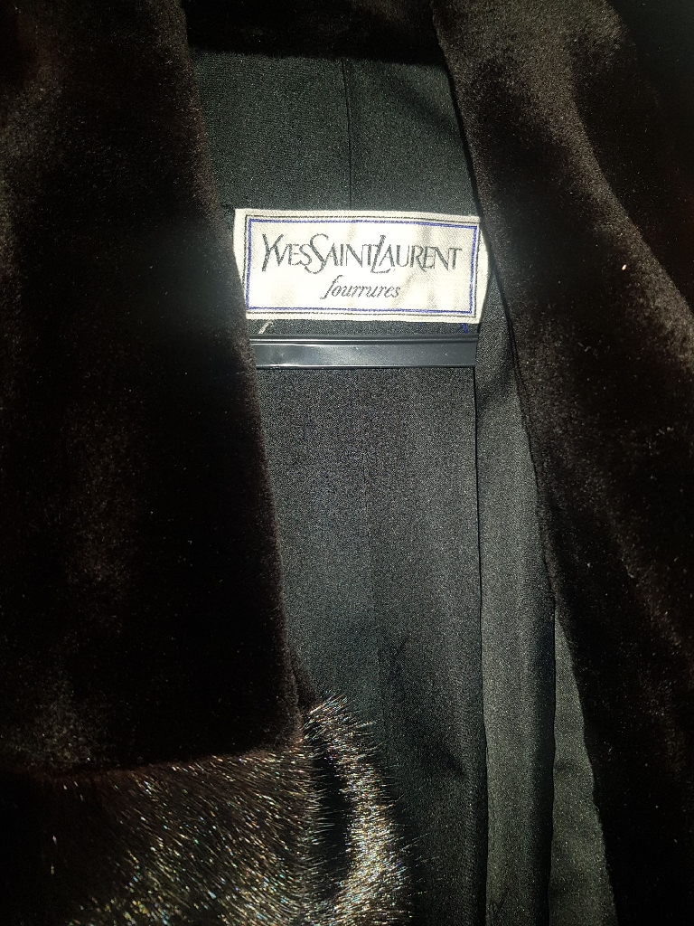 Yves Saint Laurent Mink Coat