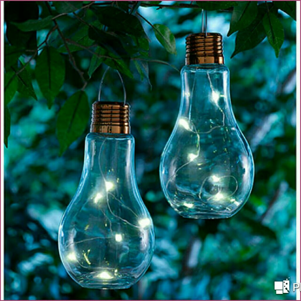 Set of 2 Bulb Shaped Lamps