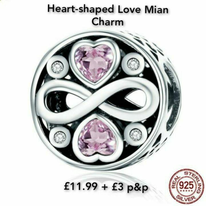 Heart-shaped Love Mian Charm❤