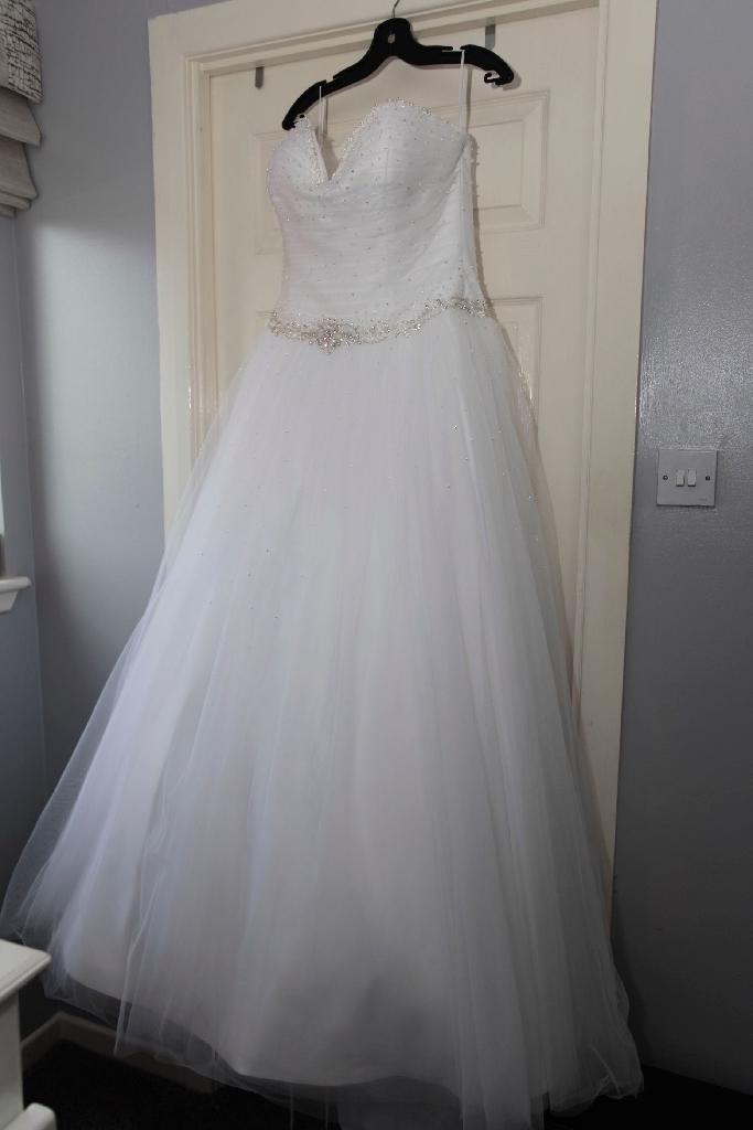 Designer white wedding dress