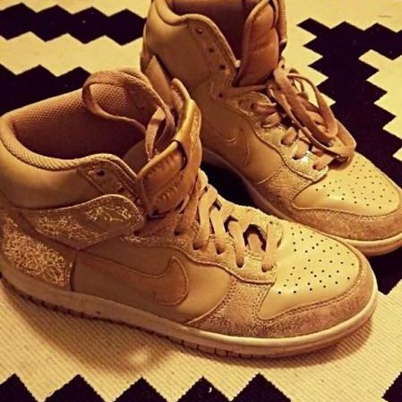 Women's Gold Nike high Tops size 9.5