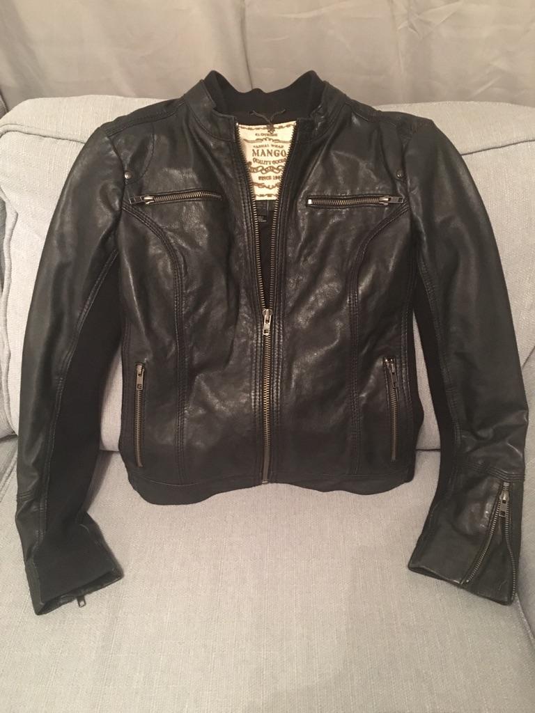Black Mango brand Leather jacket