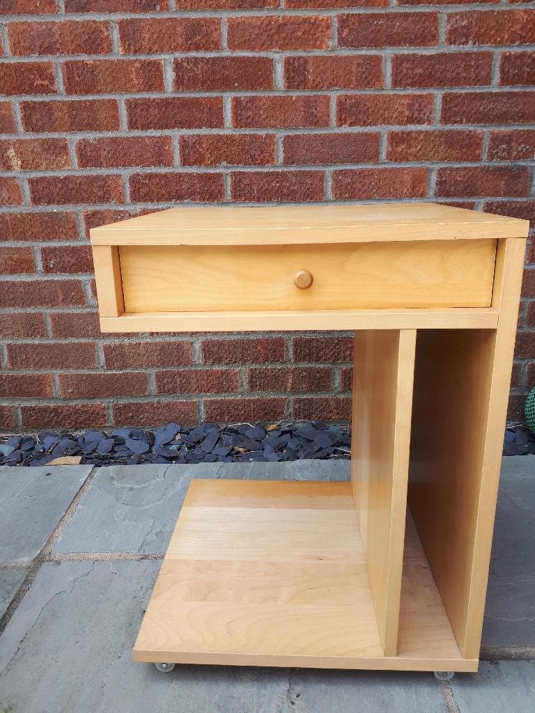 Side table/lamp table. beech wood. John Lewis