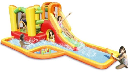 Happy land 18ft waterslide play centre with cannon