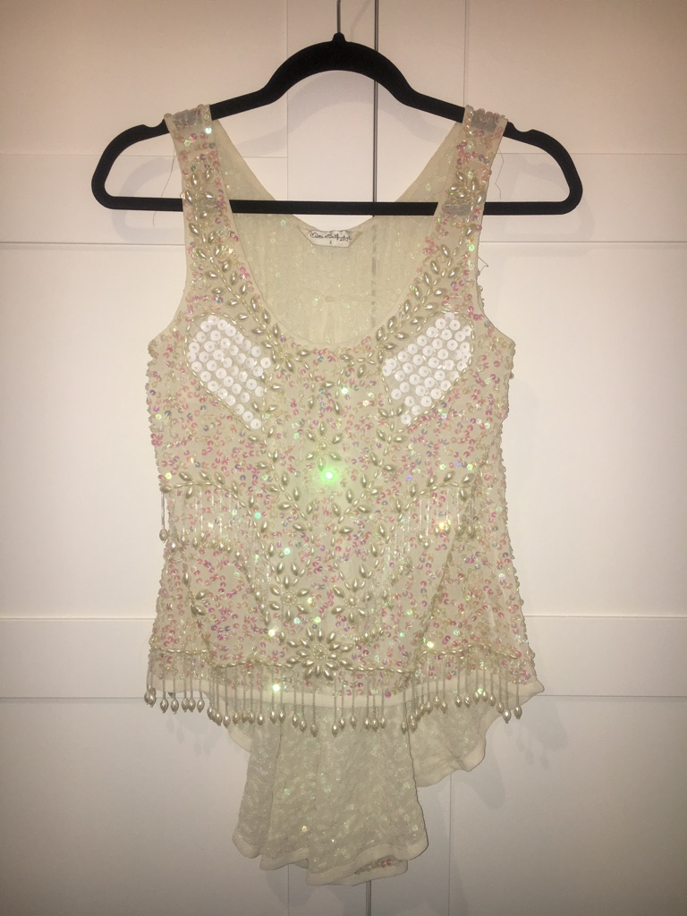 Ladies Embellished Cream Top