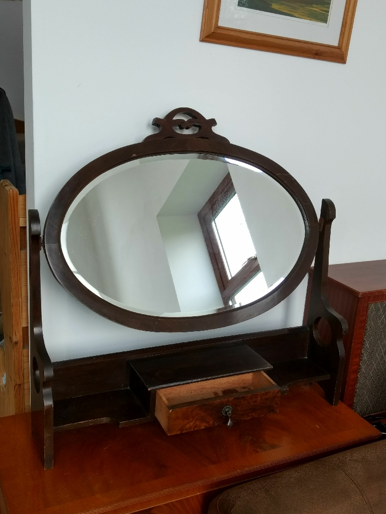 1930s arts and crafts antique dressing table mirror