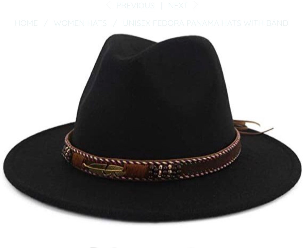 UNISEX FEDORA PANAMA HATS WITH BAND
