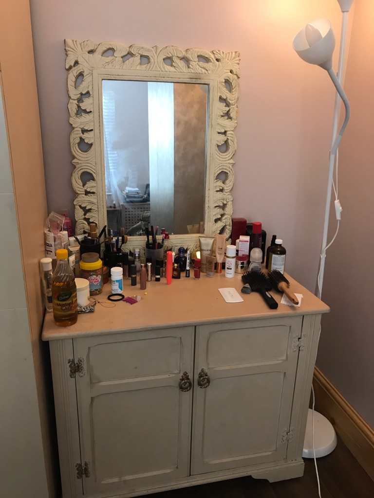 Drawer with mirror