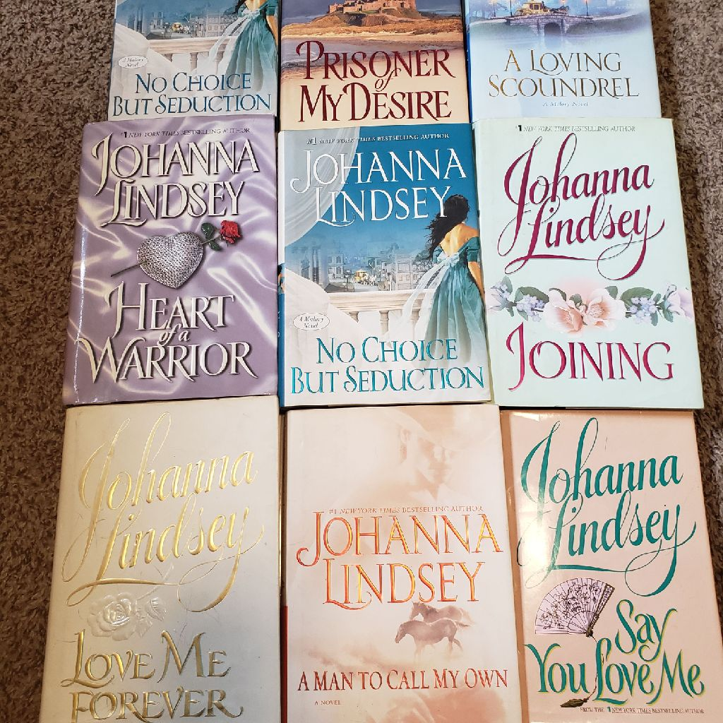 Lot of 9 Johanna Lindsey Novels