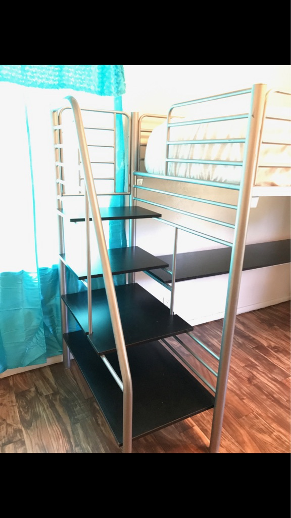 Loft bed with desk NO MATTRESS