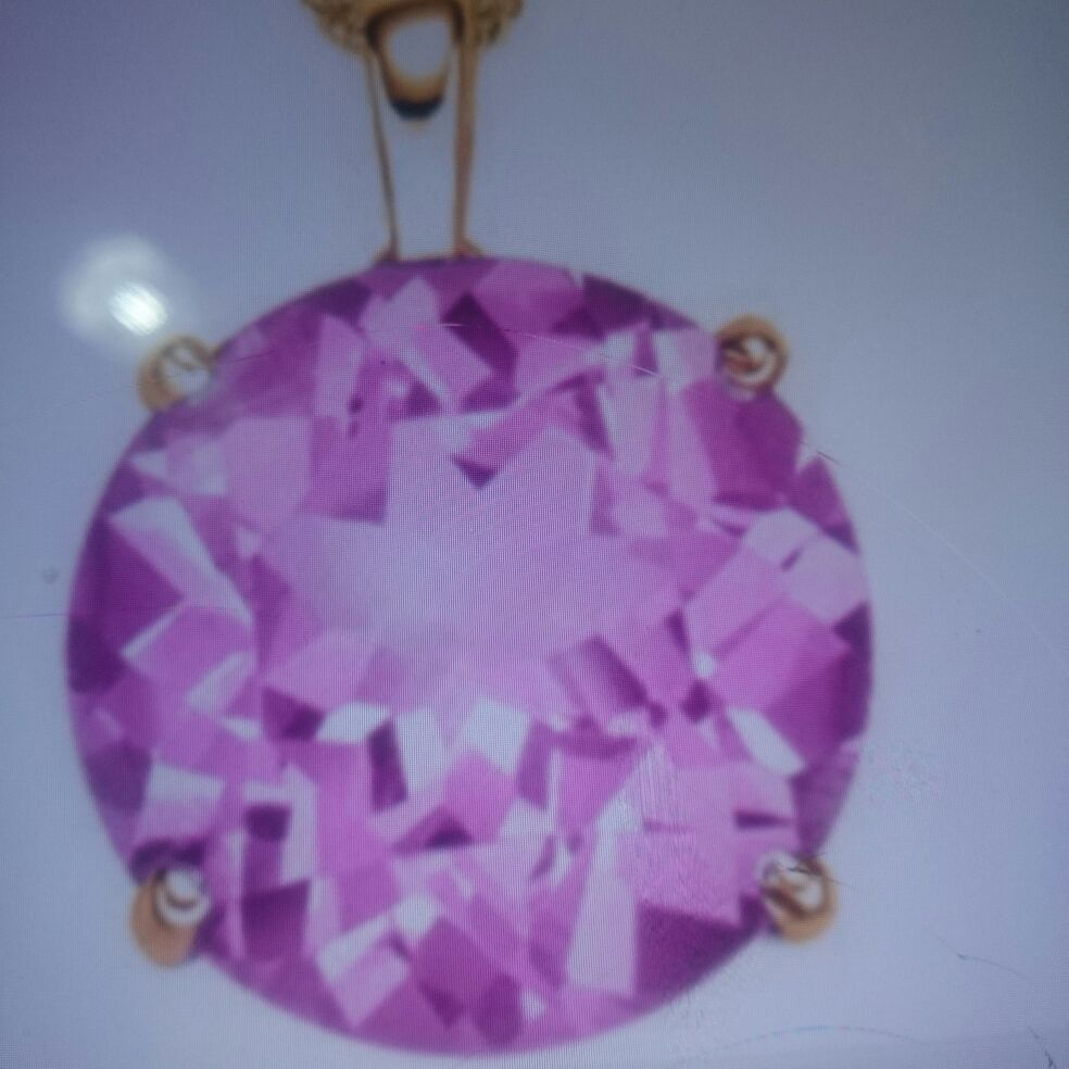 Pink Sapphire Necklace Pendant set, Brand new