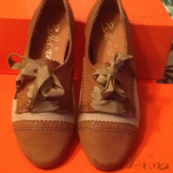 Size 36. New.  Vintage leather look and hessian shoes.  Flat.