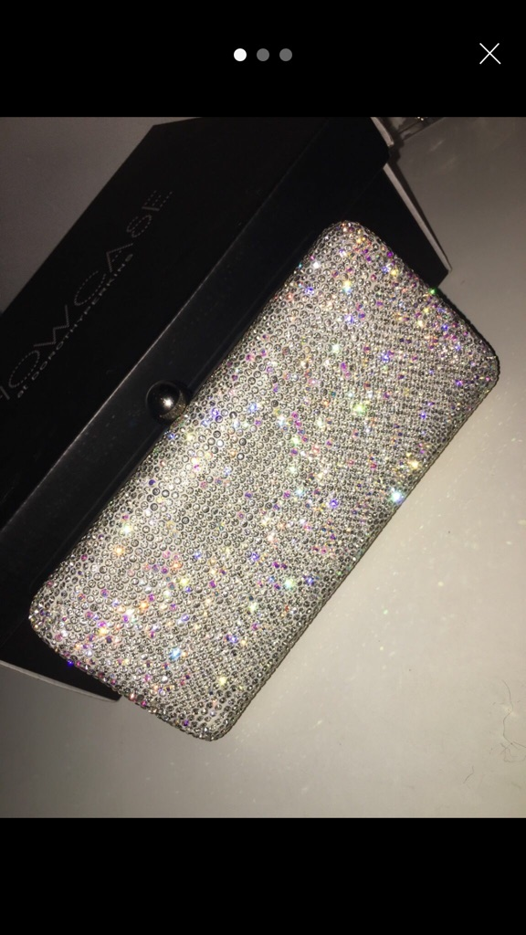Sparkly Clutch with Short + Long chain