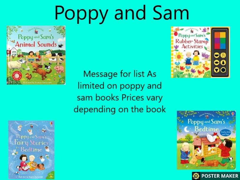 Poppy and Sam books