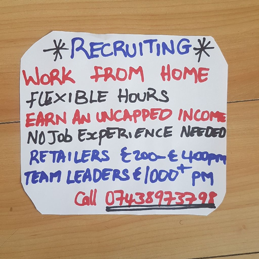 Job opportunity! Workers needed.