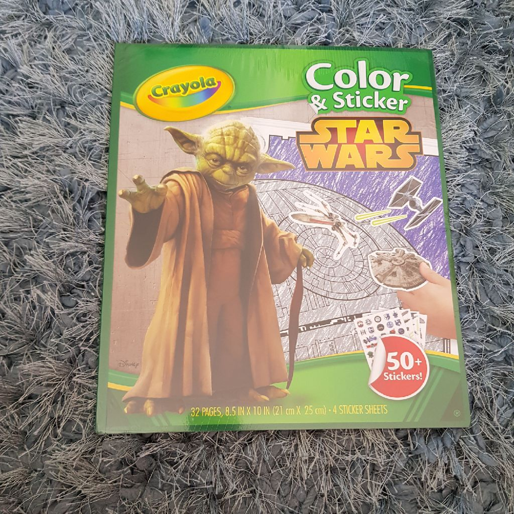 Brand new star wars color and sticker book