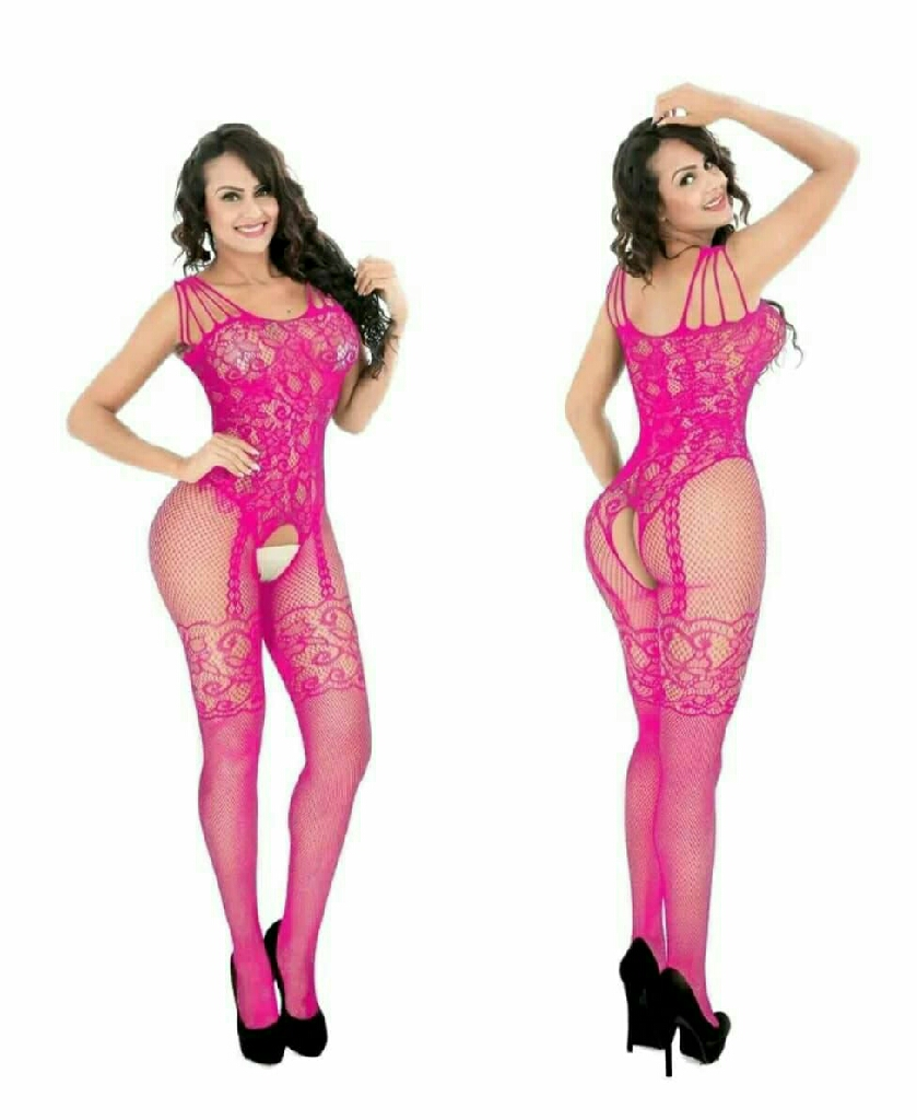 One size fits most xs to xl fishnet crotchless bodystockins