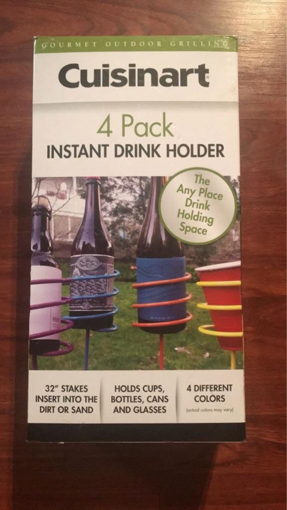 Brand new 4 pack instant drink holder