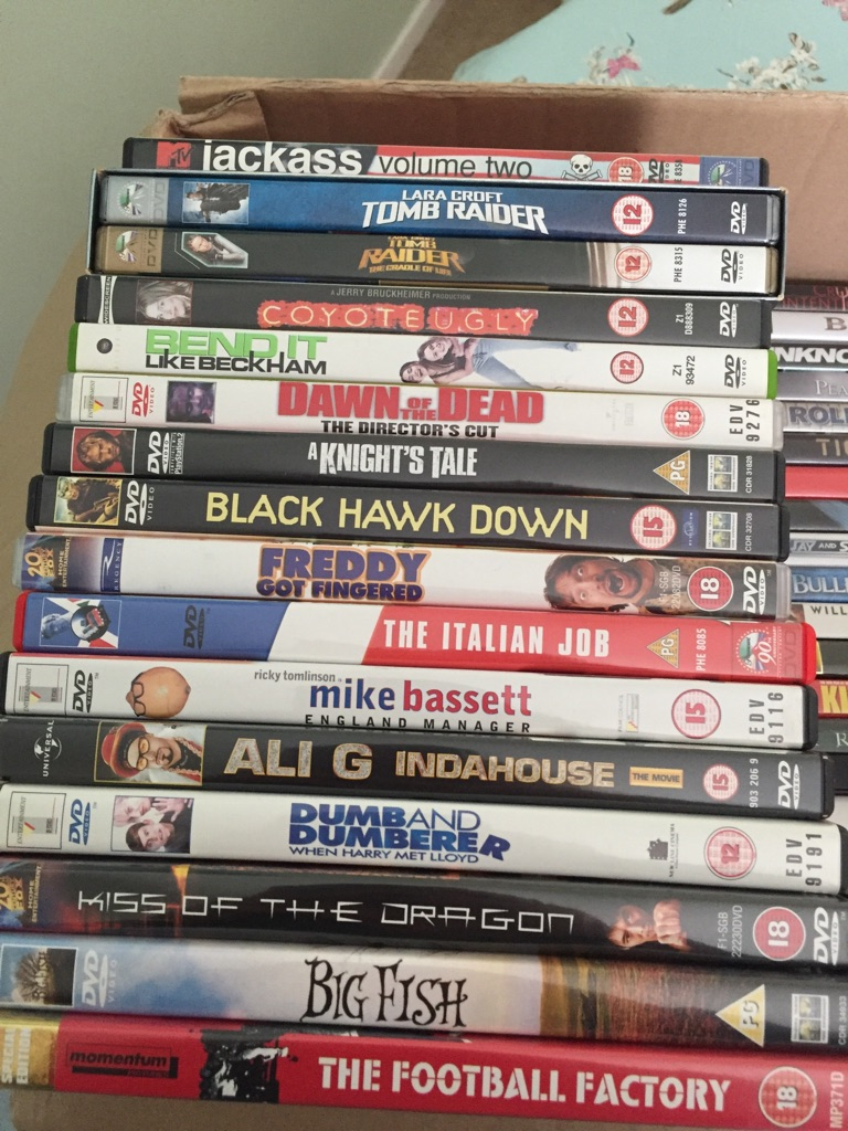 56 DVDs