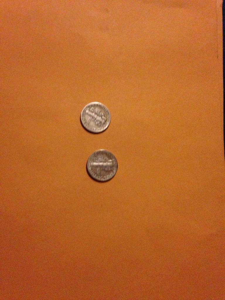 1941 & 1944 mercury liberty dimes