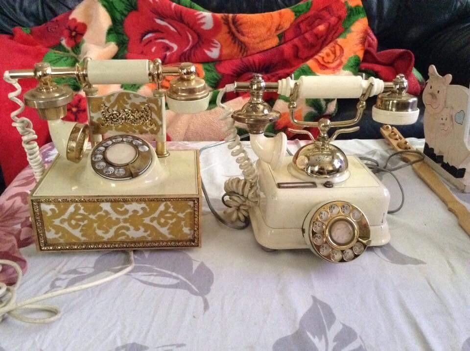 Vintage rotary phones