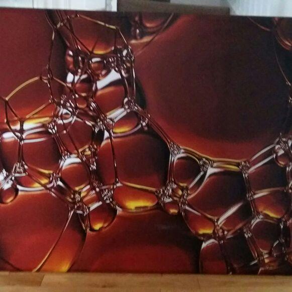 Burnt orange bubble canvas