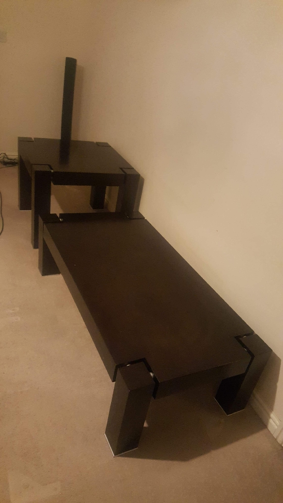 1 coffee table and 1 side table