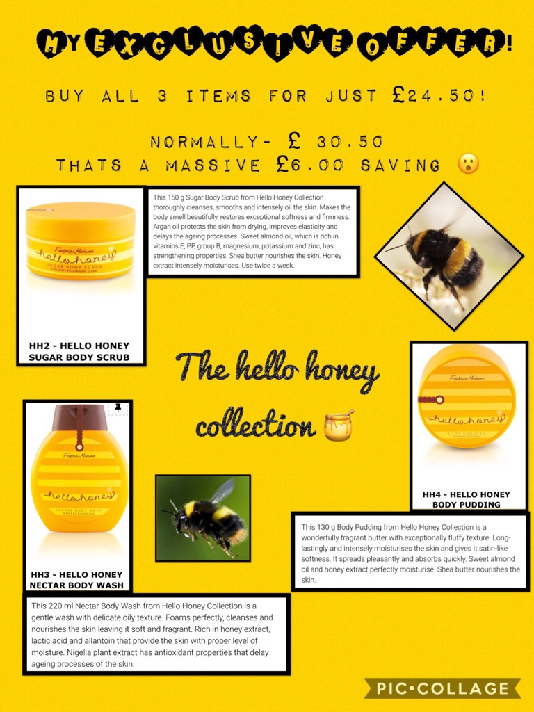 The hello honey collection 🐝