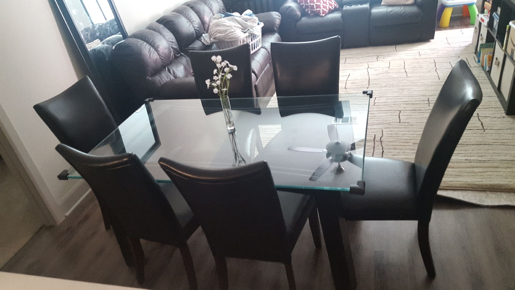 Glass Table Dining Set