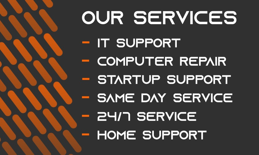 IT Support Same Day Services | IT Help | PC | Computer | Server | Repair | Home / Business Visits