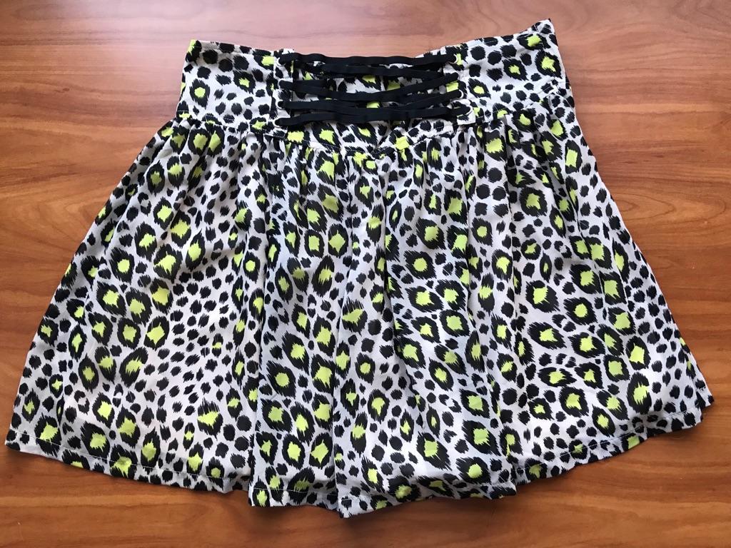 Leopard Print Skirt - size 12