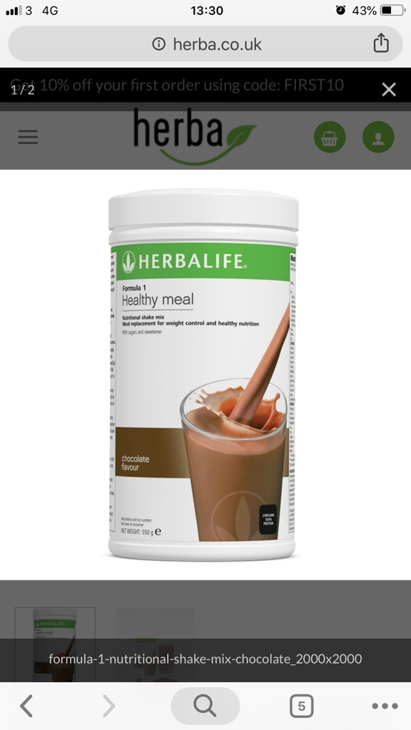 Herbalife healthy meal shaker/choose your flavour