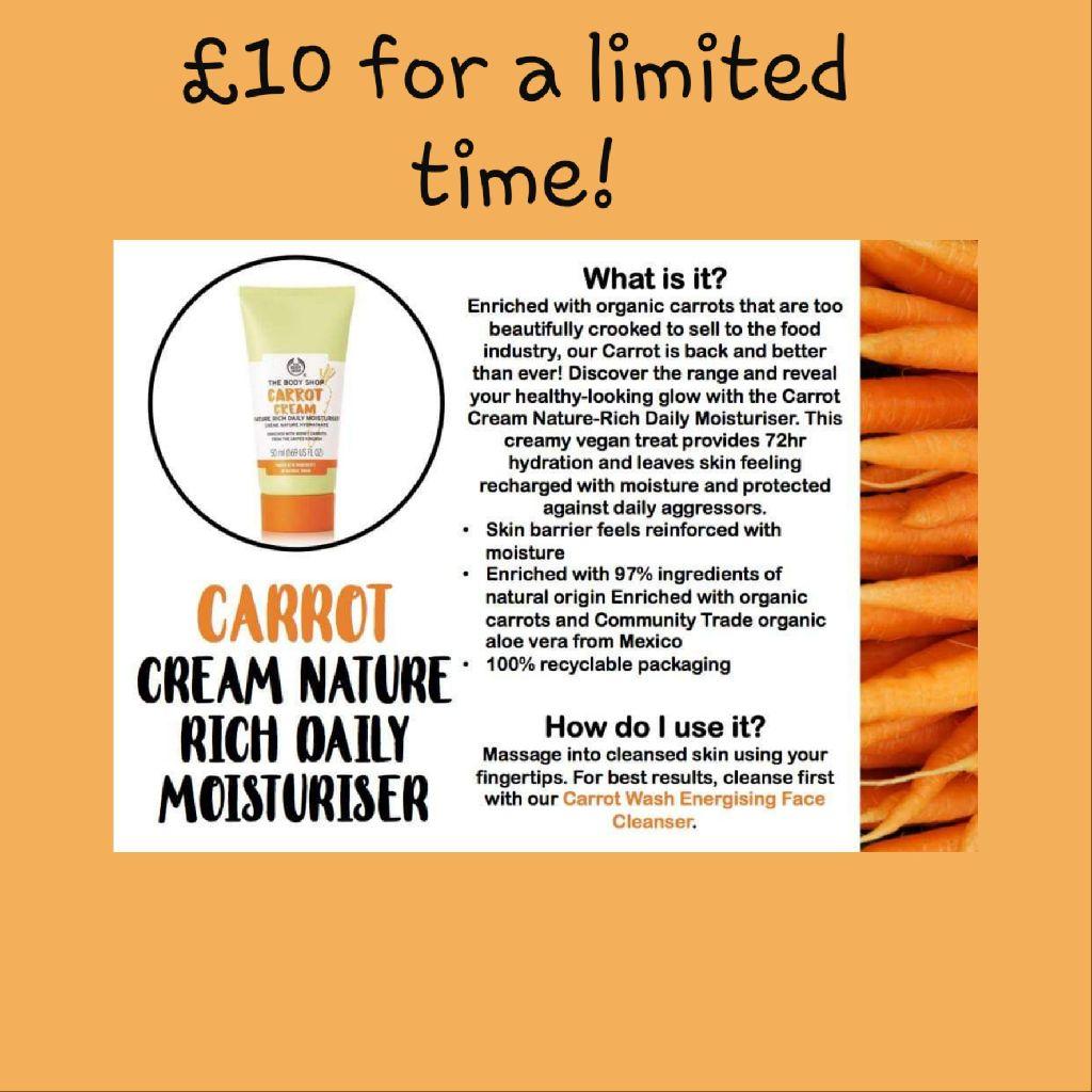 Carrot Cream Nature Rich Daily Moisturiser