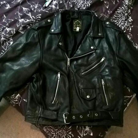 Black motor bike jacket xl