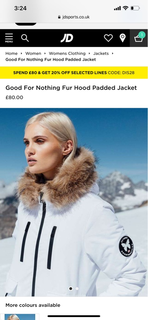 GoodForNothing Fur Hood Padded Jacket Females