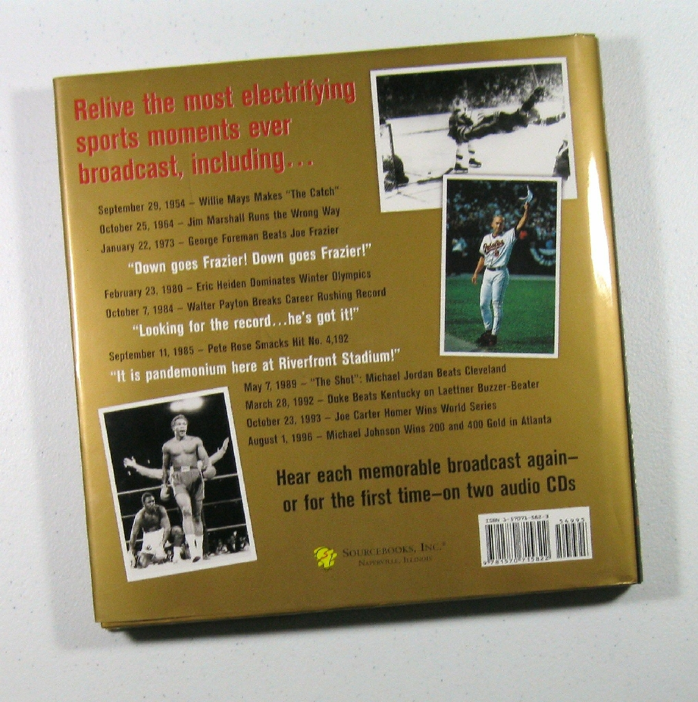 """"""" And The Fans Roared! """" Sports Memorabilia Book Large Hardcover"""